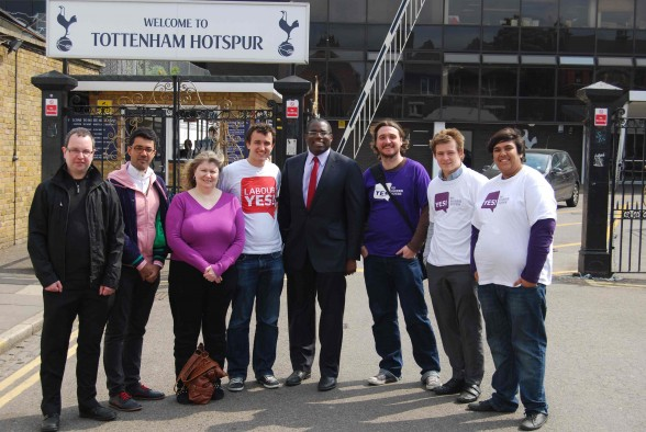 David Lammy and Labour Yes volunteers